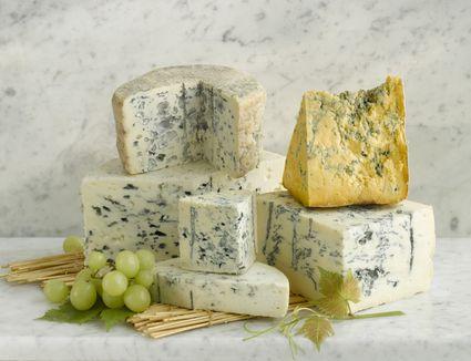 Stilton and Shropshire blue
