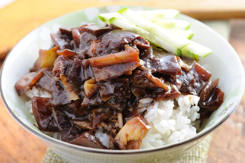Rice with black bean sauce
