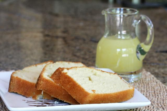 Pound Cake with citrus syrup