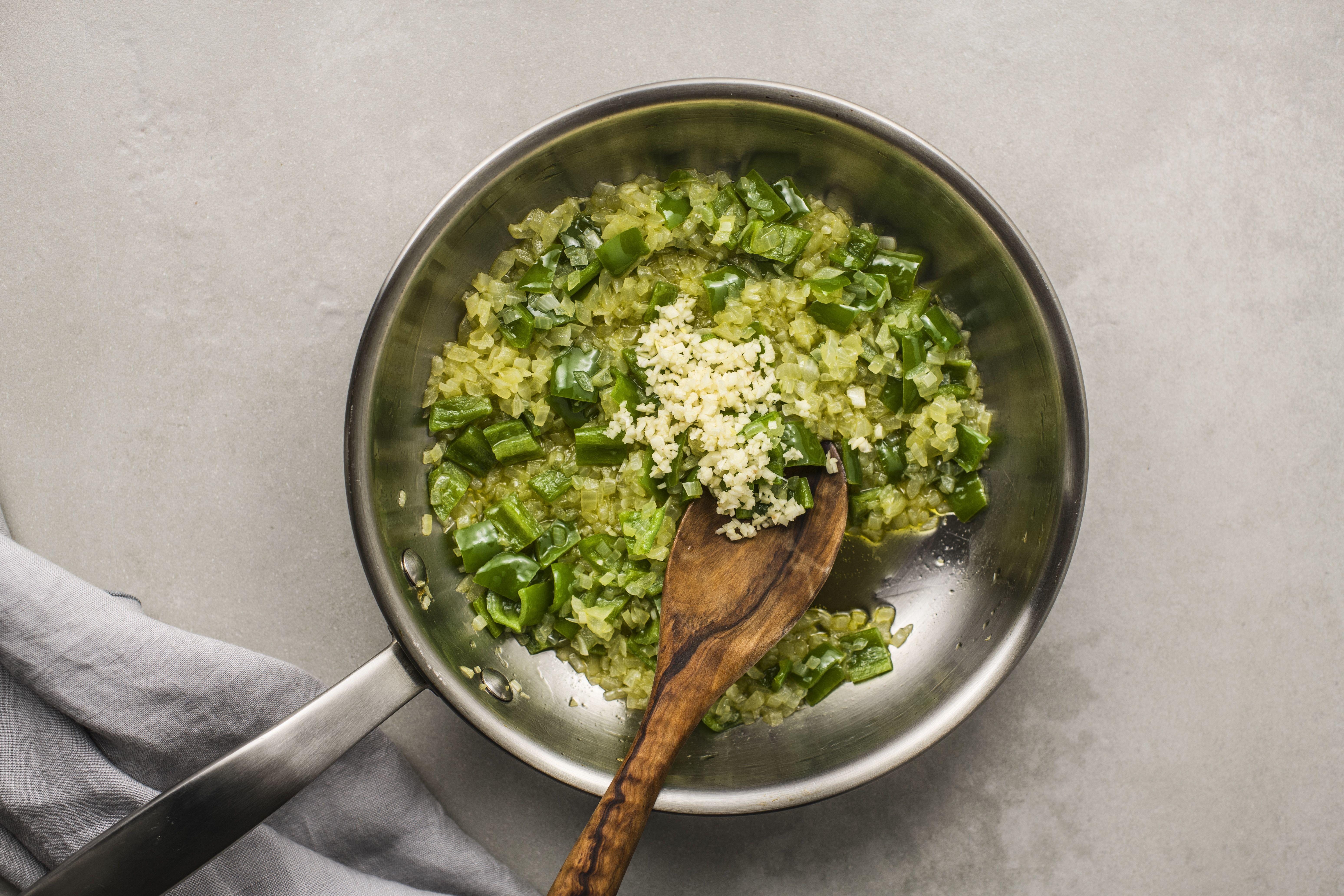 Add in garlic