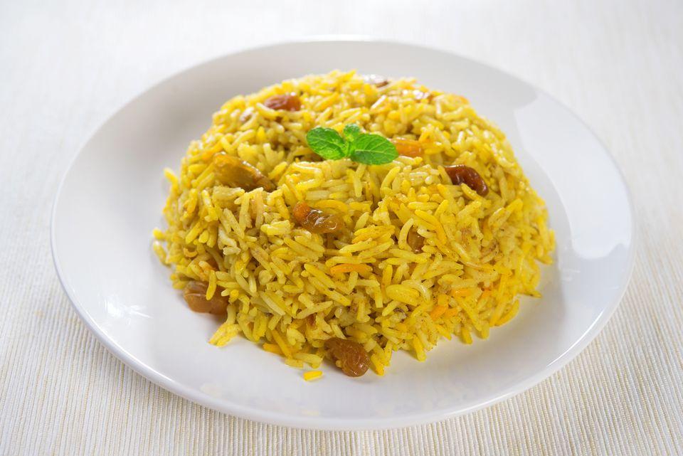 curry rice with raisins