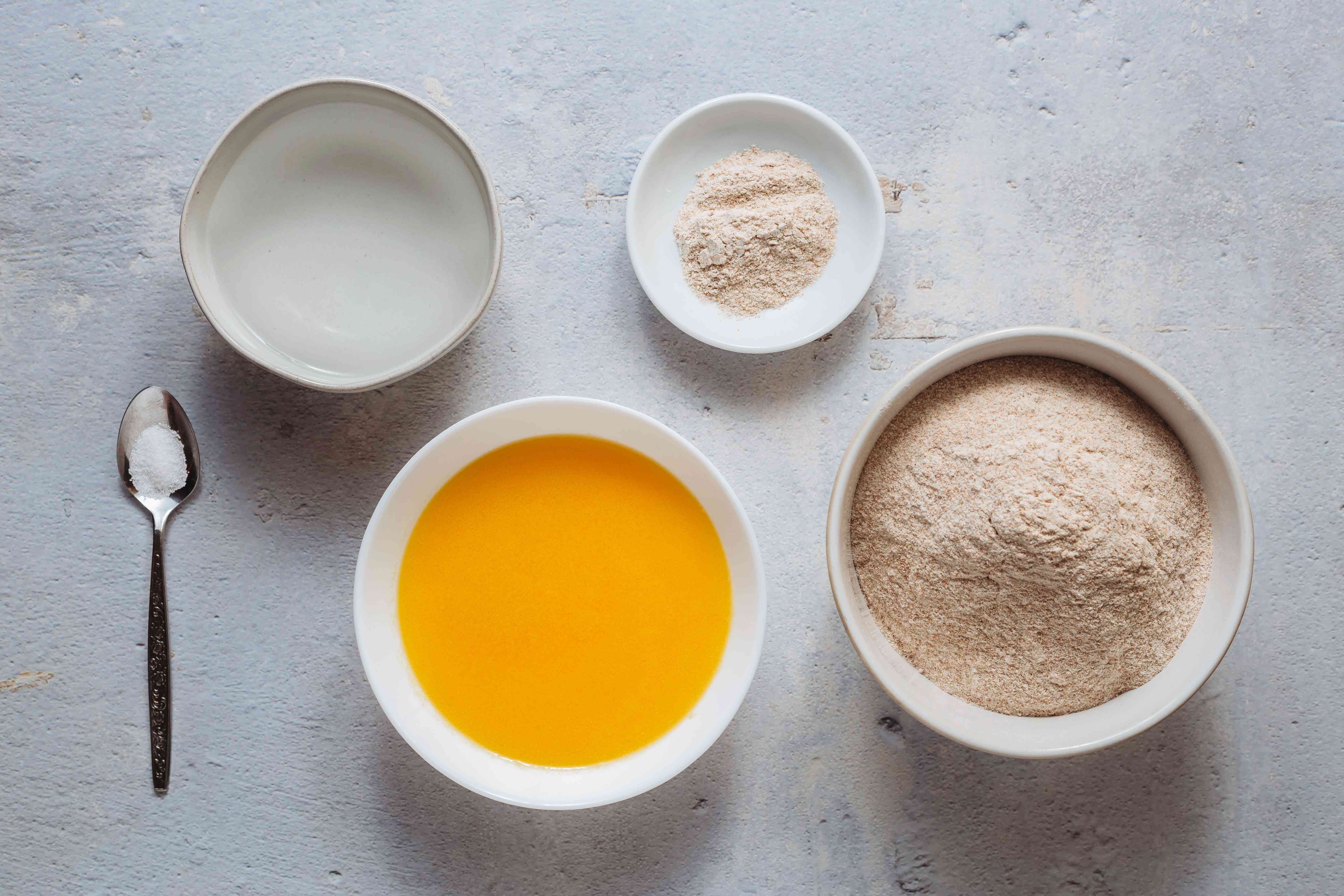 Lachcha Paratha (Layered Indian Bread) ingredients