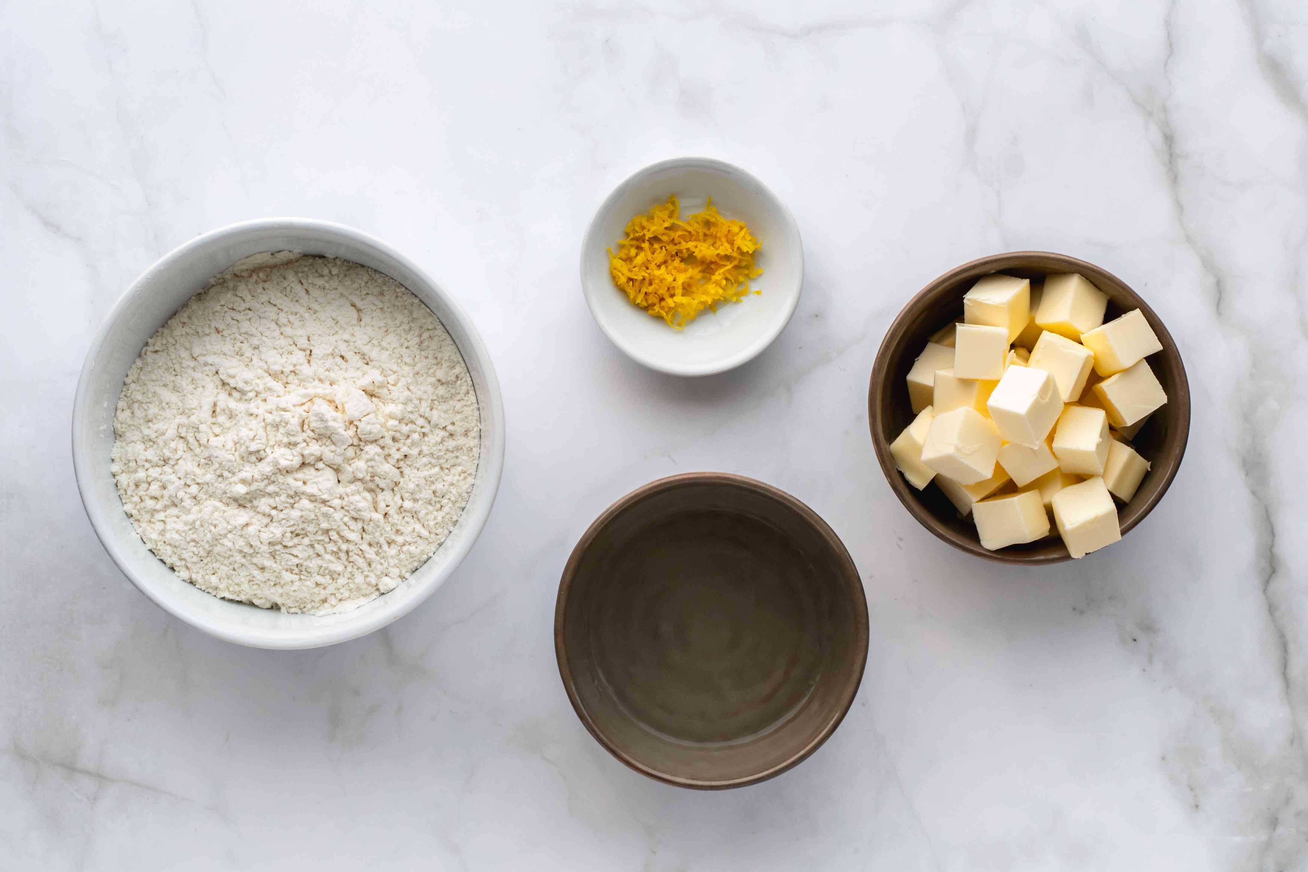 Vanilla Custard Fruit Tart pastry ingredients