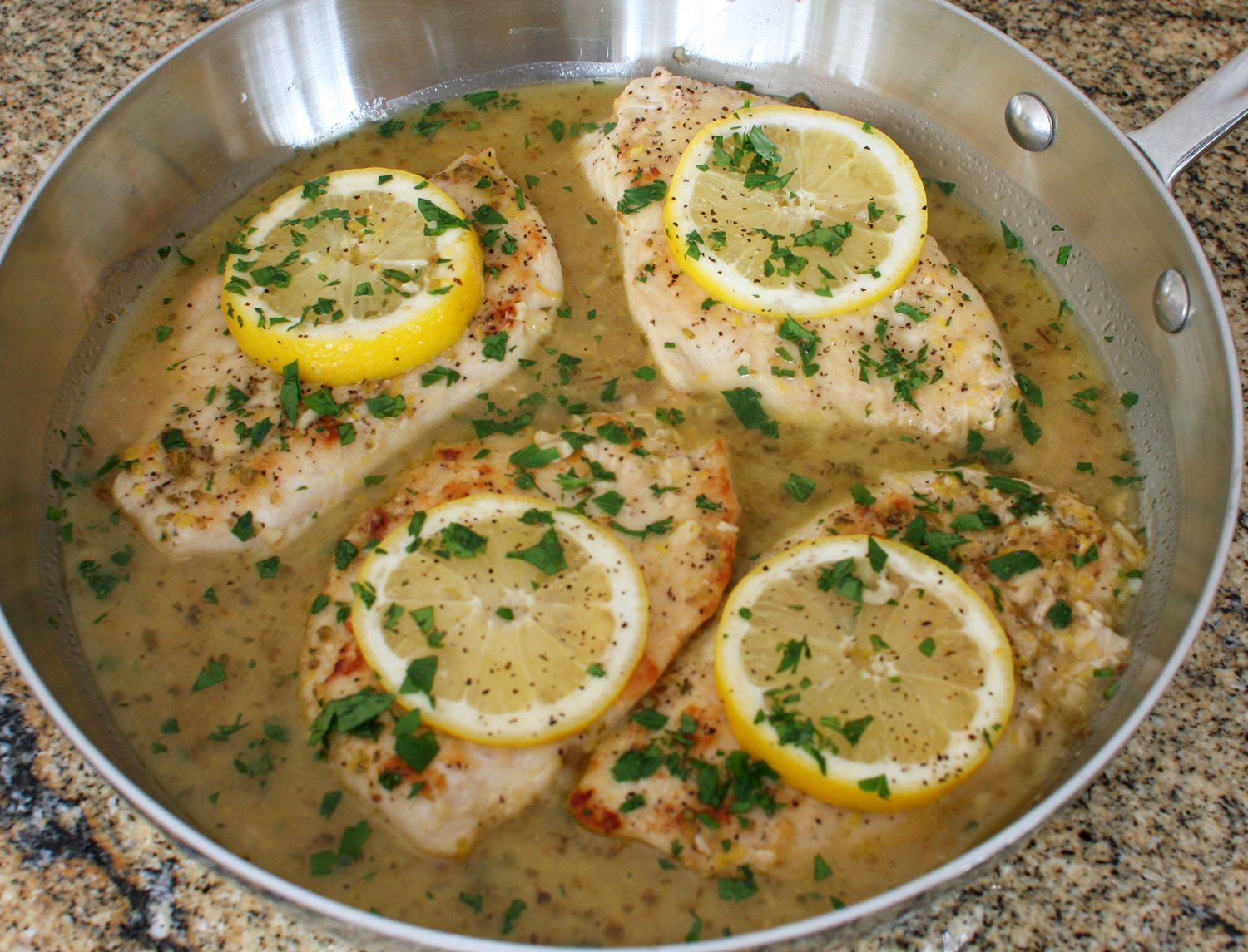 Baked Lemon Chicken With Garlic