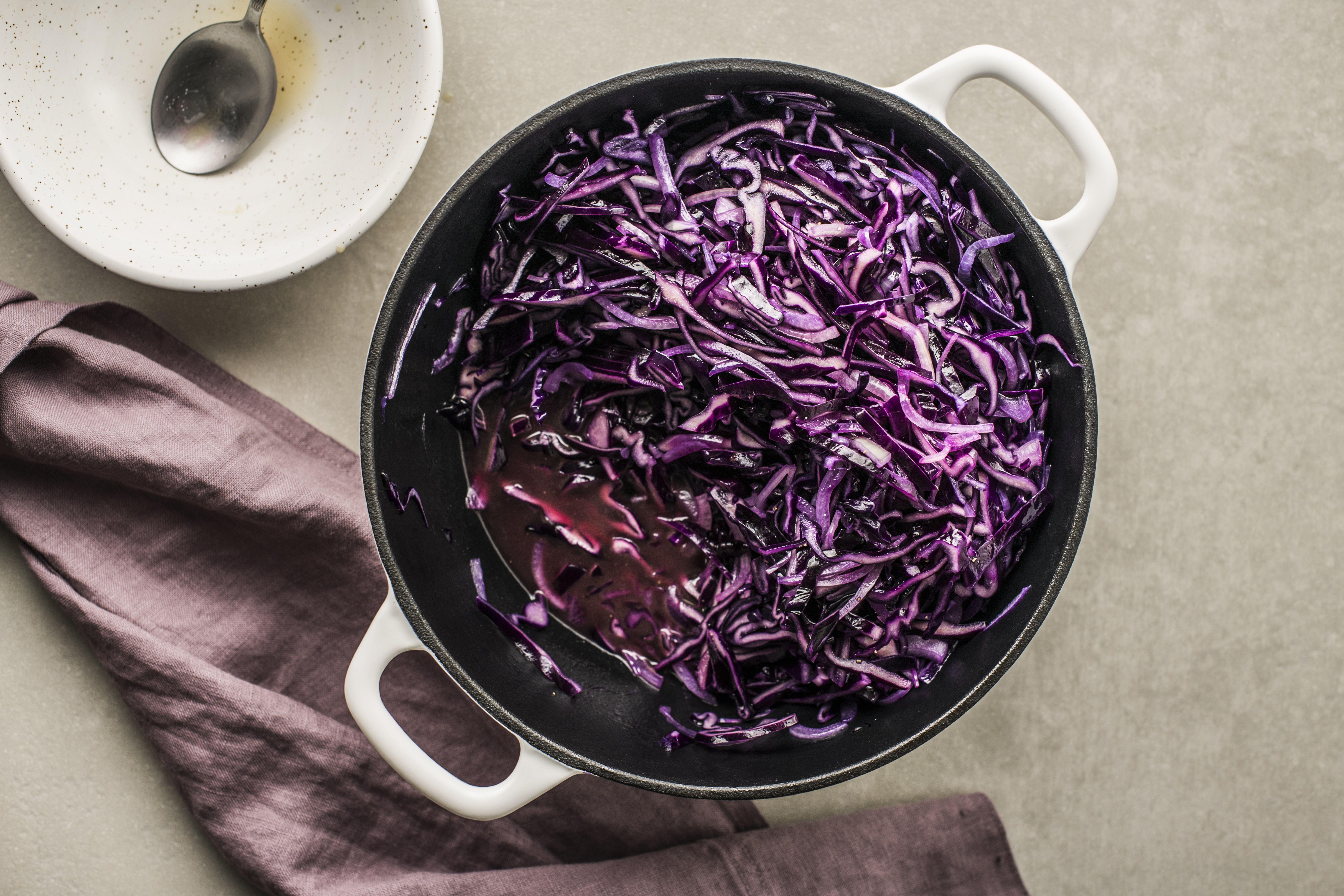 Add cabbage mixture