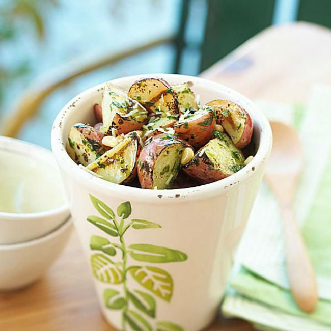 Grilled Pesto Potato Salad