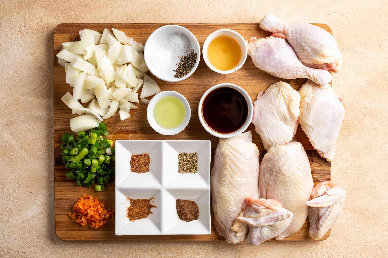 Authentic Jamaican Jerk Chicken ingredients
