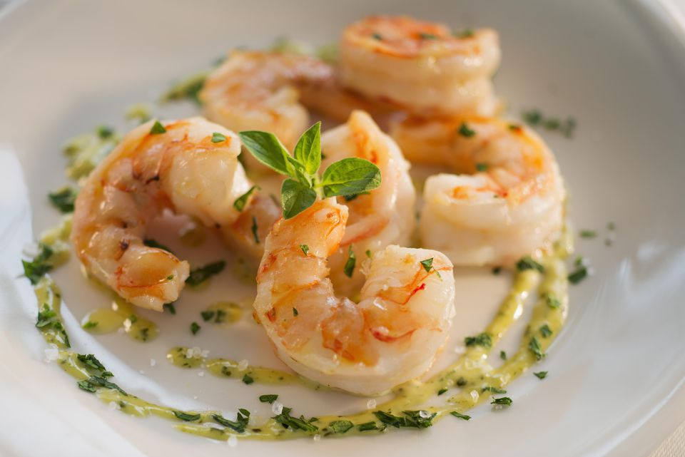 Cognac Shrimp With Beurre Blanc