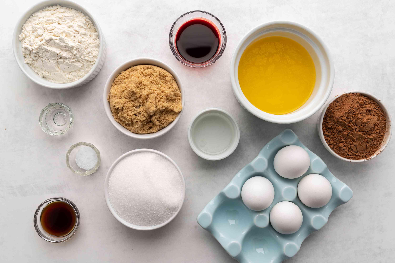 red velvet brownies ingredients