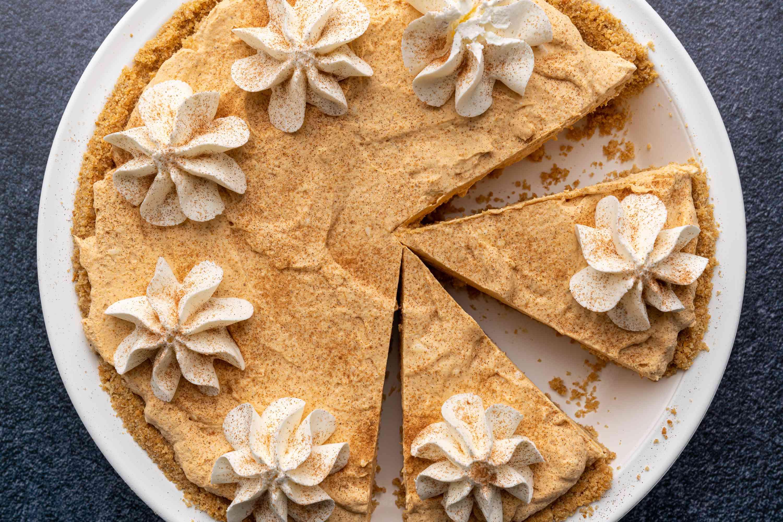 10 Minute No-Bake Pumpkin Pie