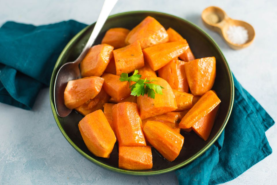 Maple glazed yams
