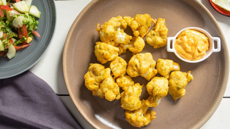 Moroccan Batter Dipped Fried Cauliflower Recipe