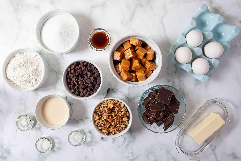 Caramel Brownie ingredients