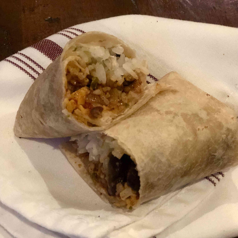 Vegetarian Bean and Rice Burrito Tester Image