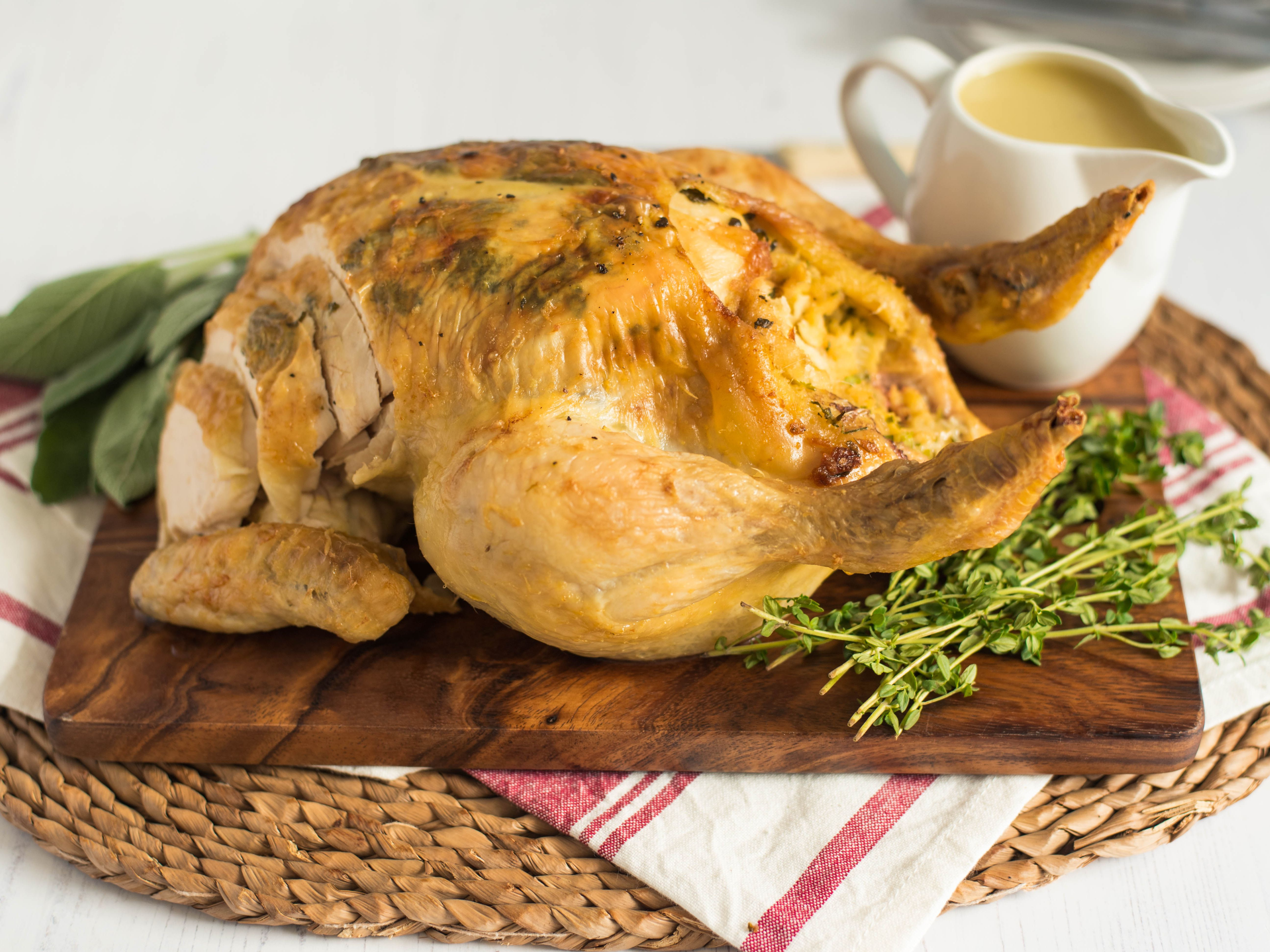 Whole Stuffed Chicken With Pan Gravy Recipe