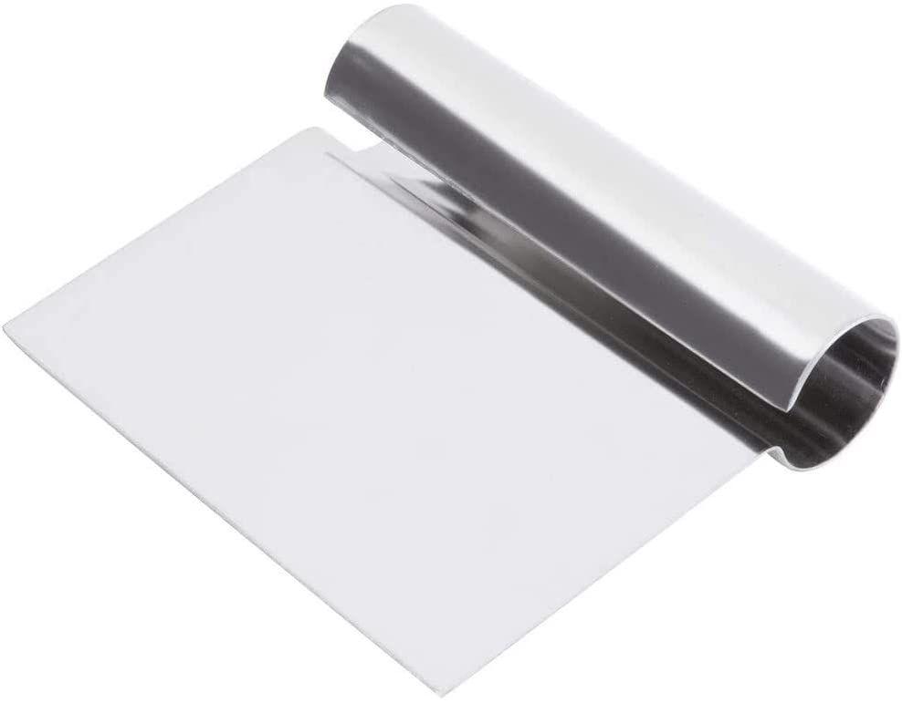 Tezzorio 5 x 4-Inch Stainless Steel Dough Scraper/Cutter