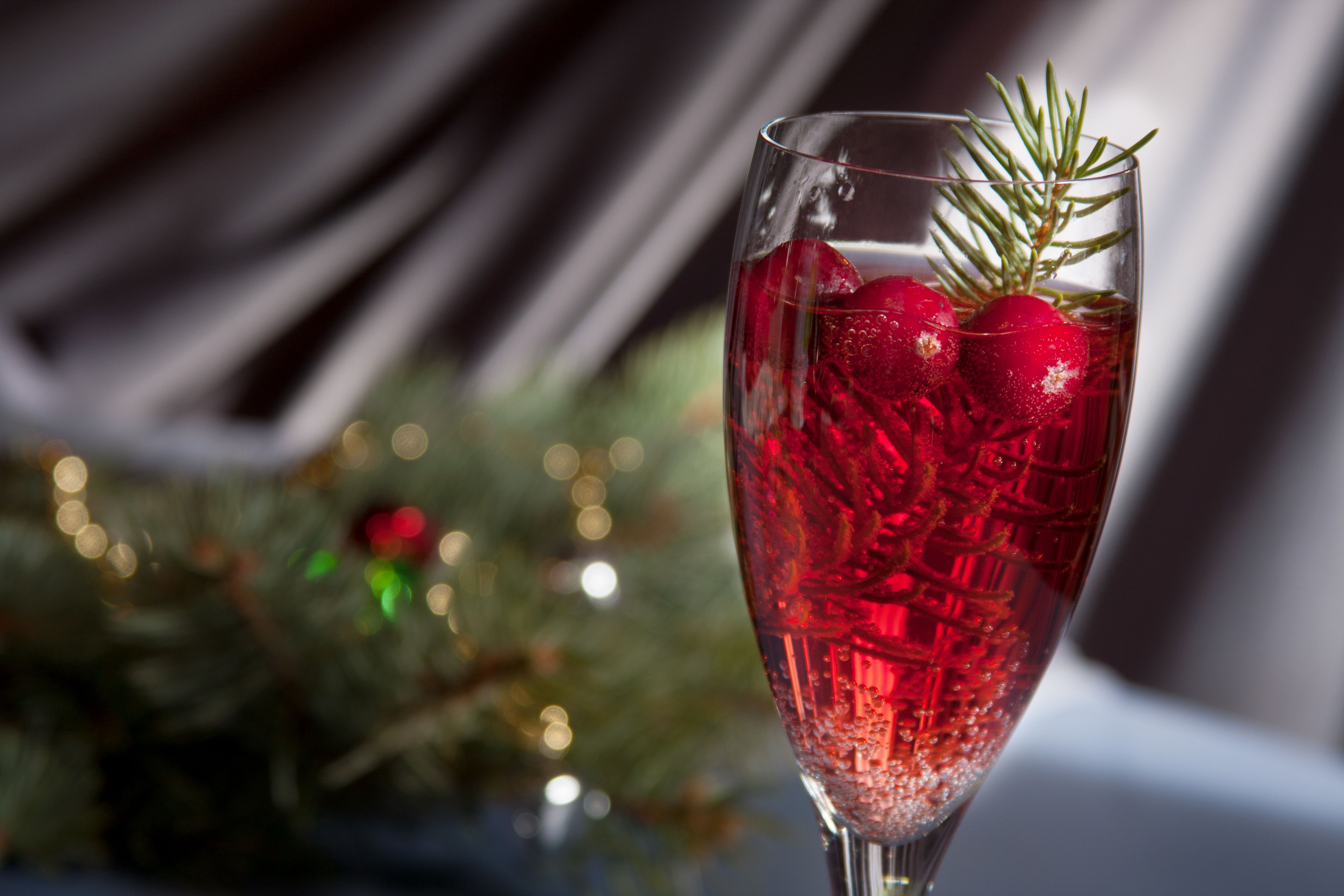 Christmas Mimosa Recipe Infused With Pine