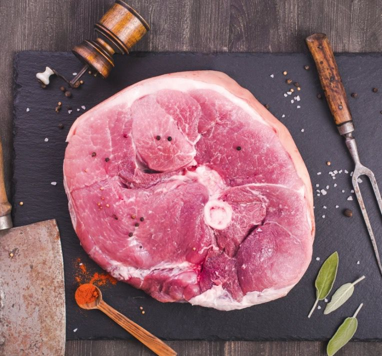 Grass Roots Uncured Bone-In Ham Steak