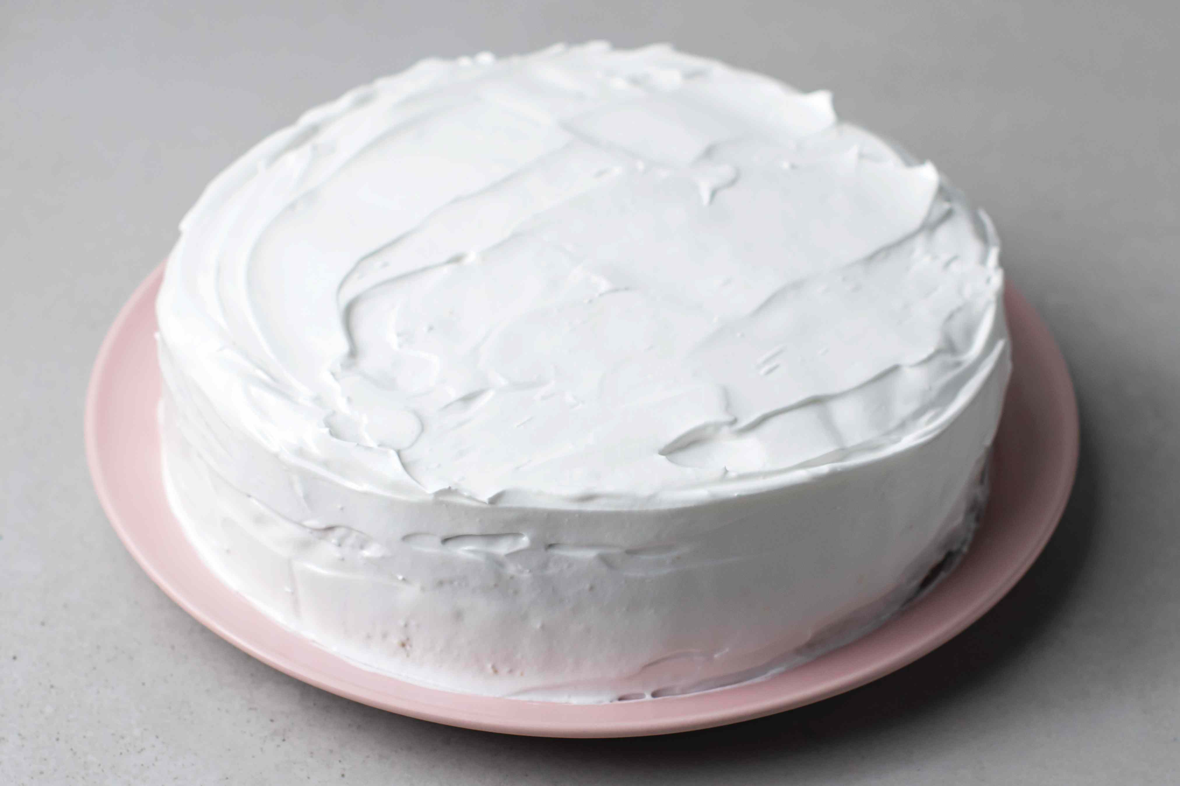 coconut cake with coconut icing