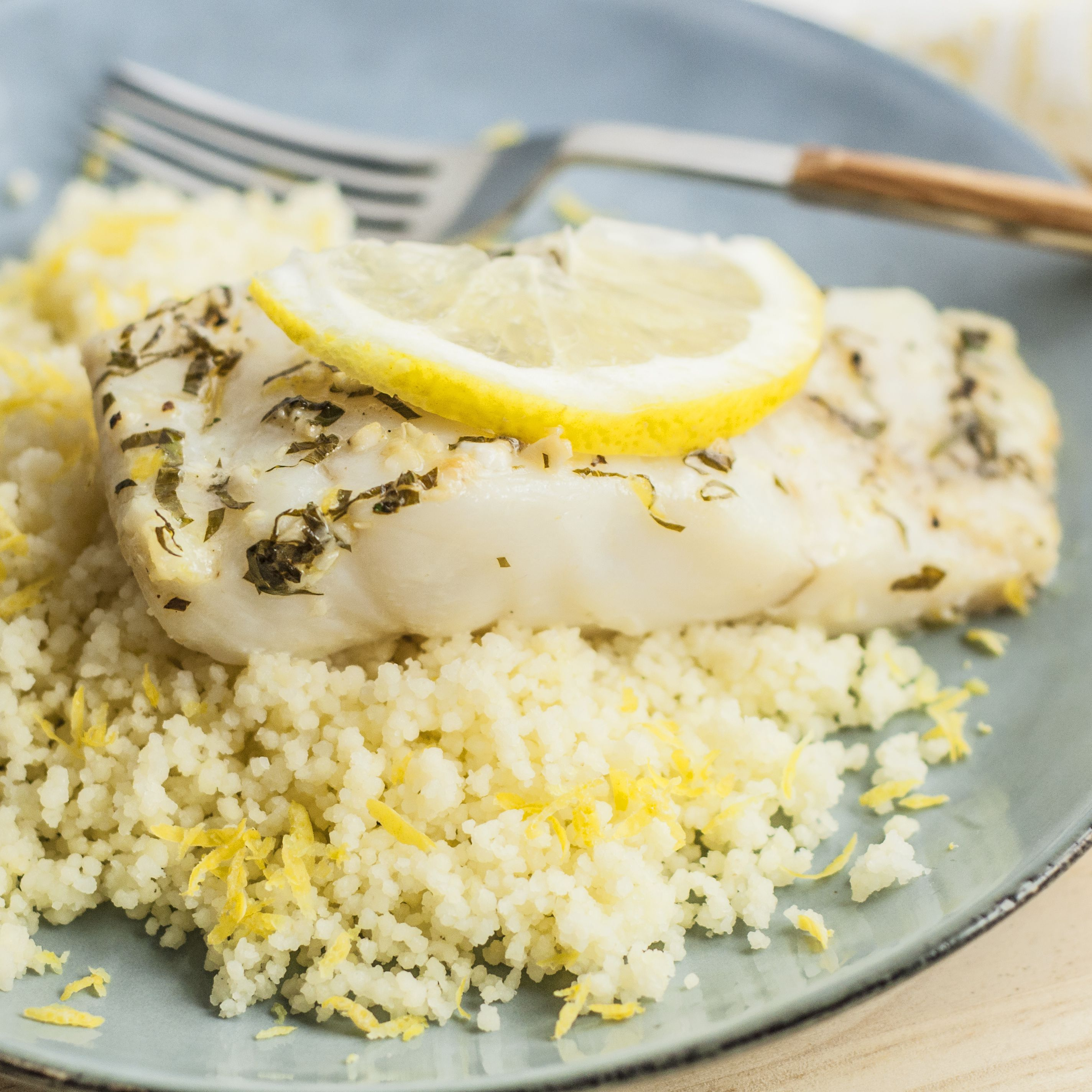 Healthy Baked Lemon Garlic Cod Recipe
