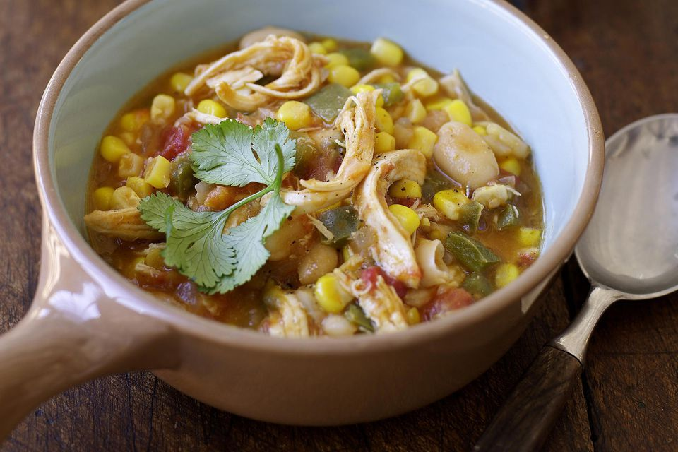 Mexican-Style Shredded Chicken Soup