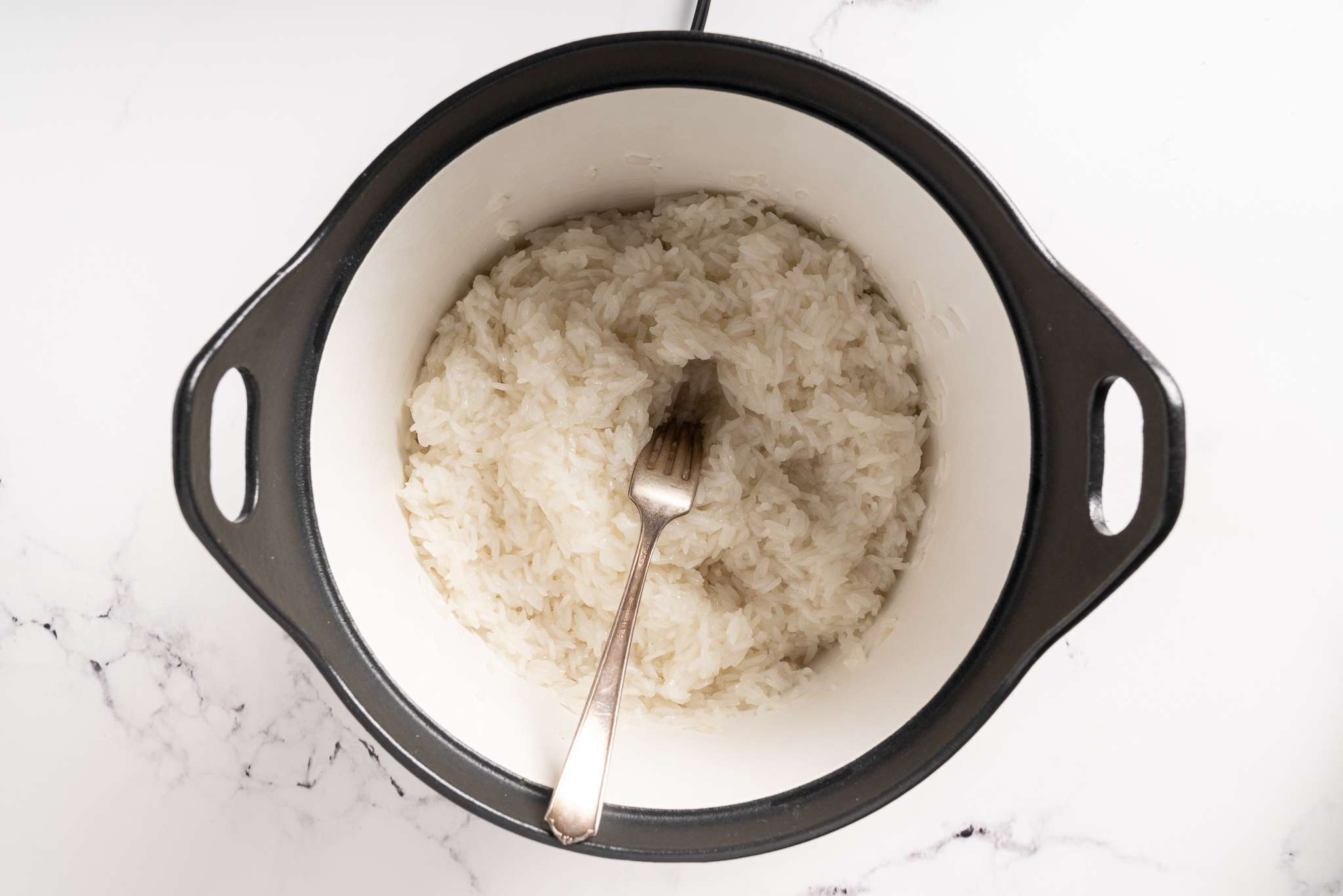 check the rice in the rice cooker