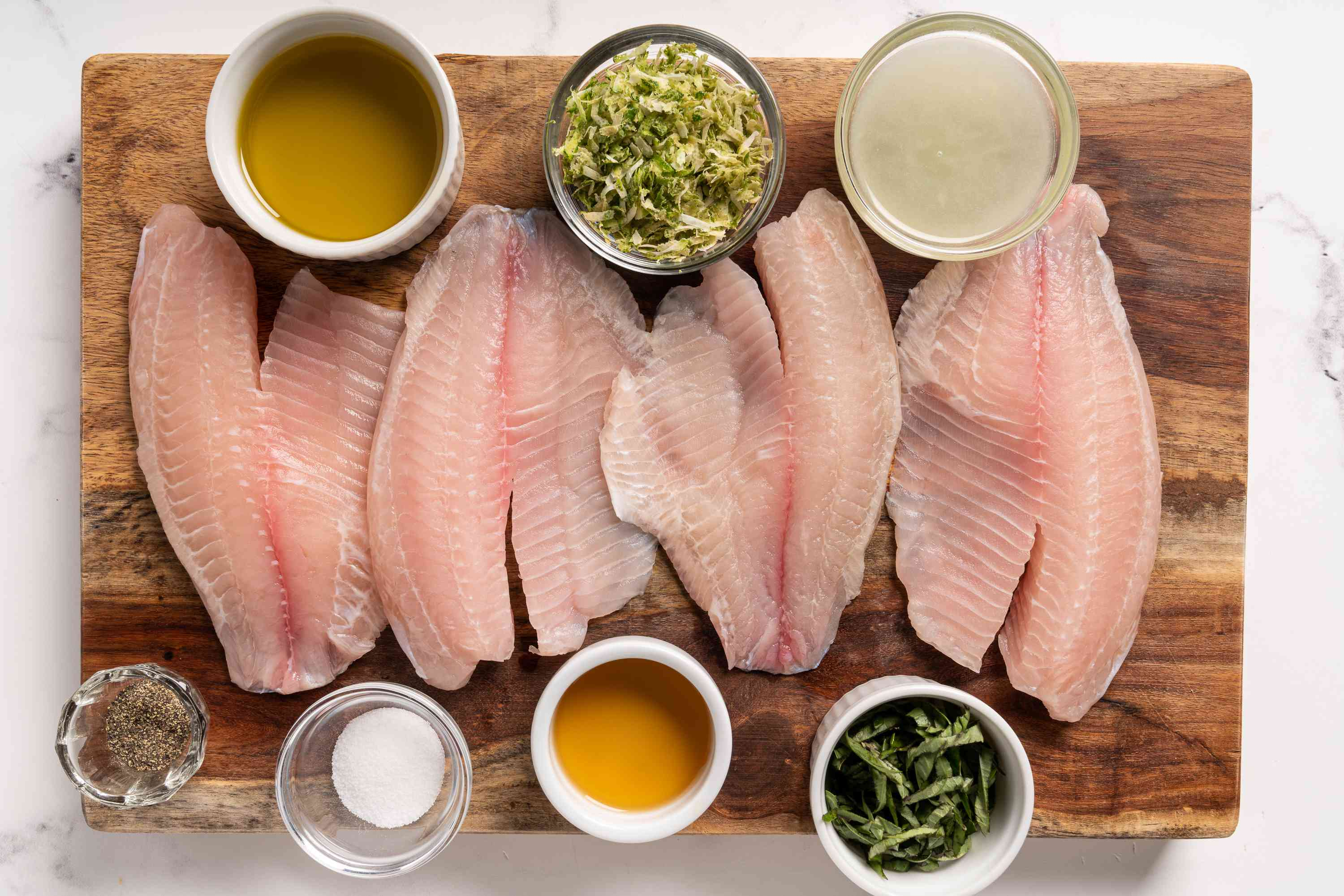 Lime and Basil Tilapia Recipe ingredients