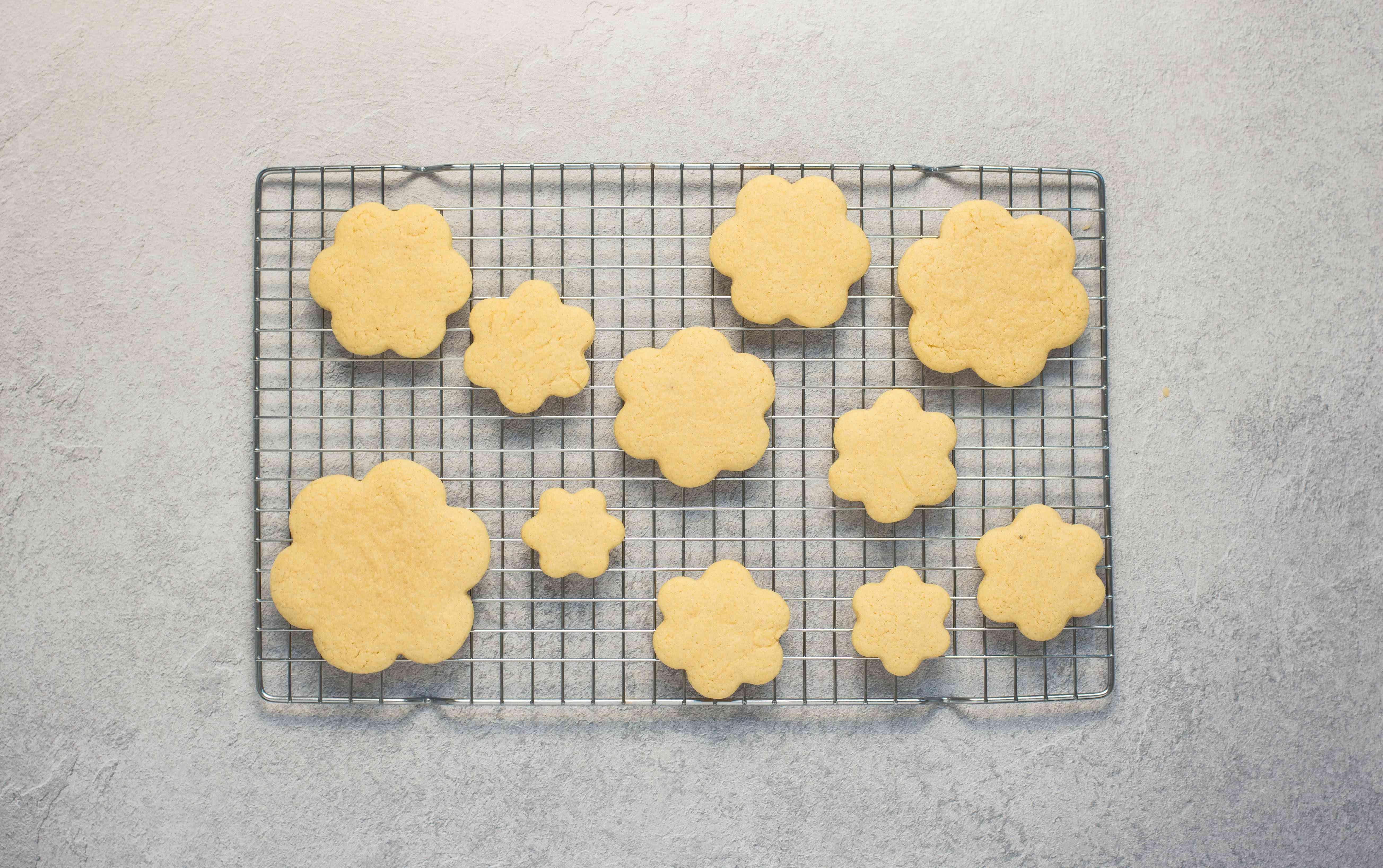 Place cookies on parchment