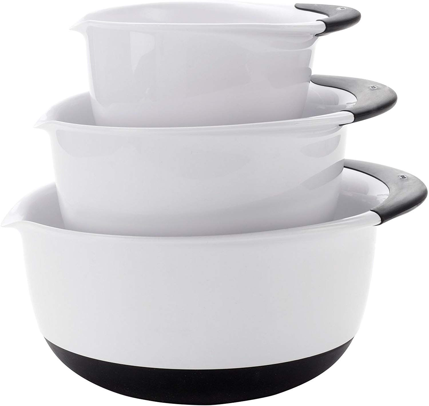 OXO Good Grips Mixing Bowl Set with Black Handles