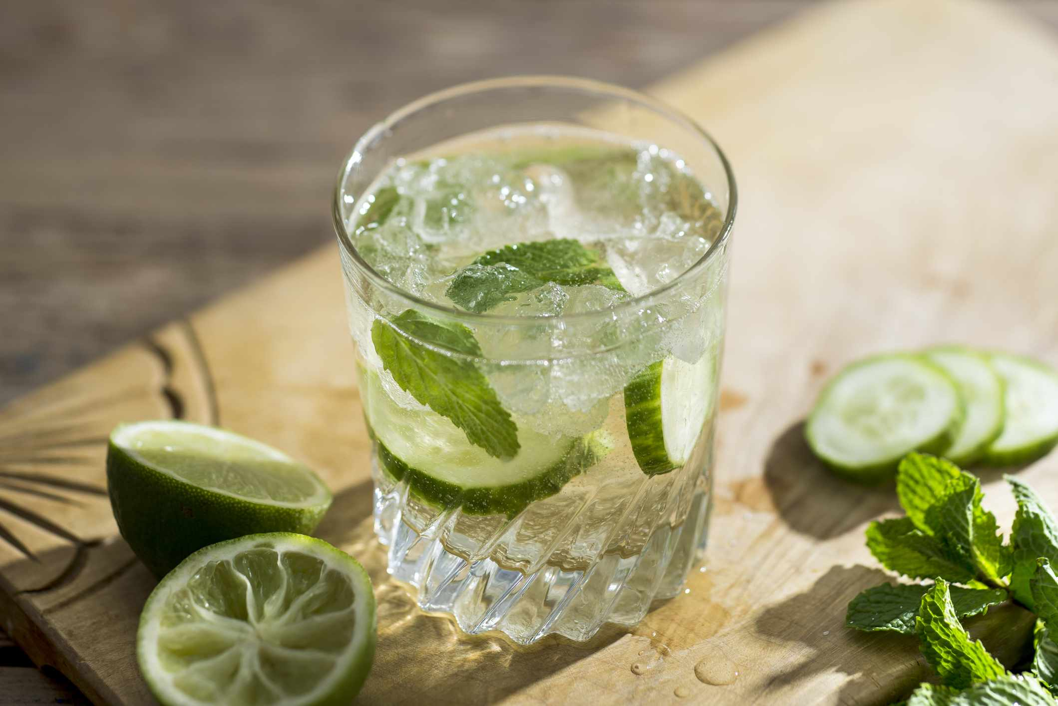 Cucumber and Mint Prosecco Cocktail