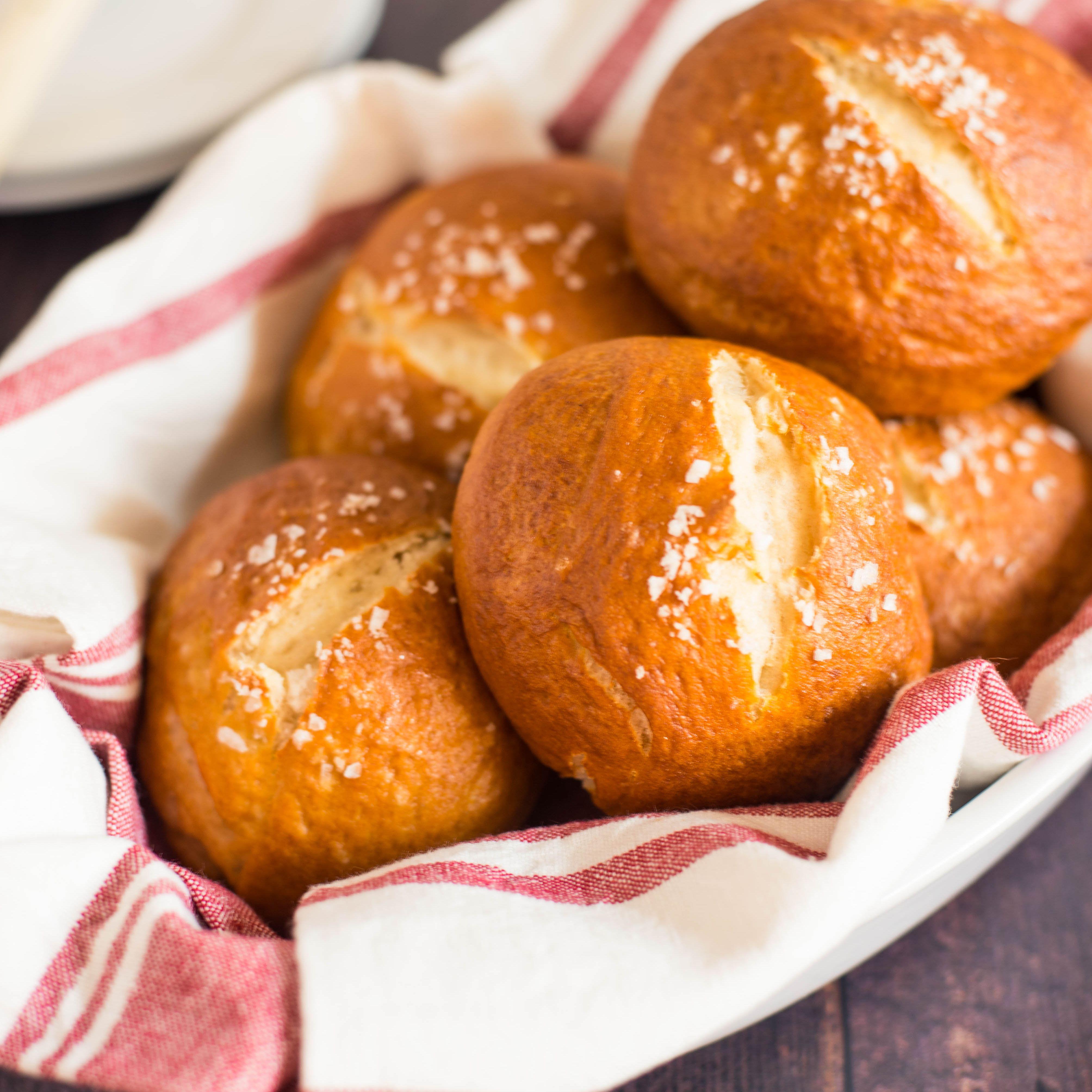 Dairy free pretzel rolls