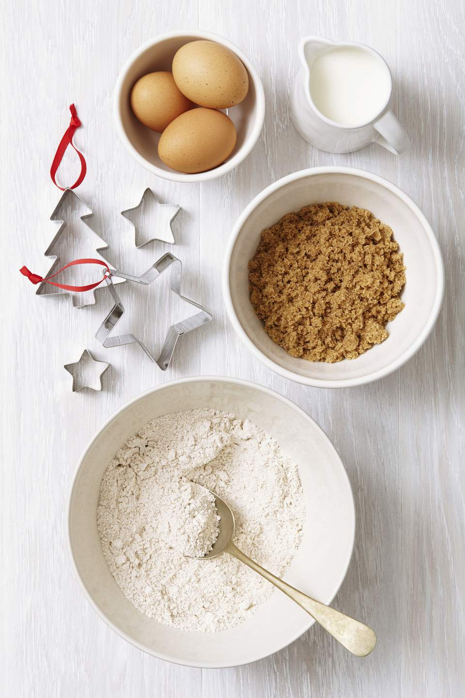 A set of holiday baking supplies