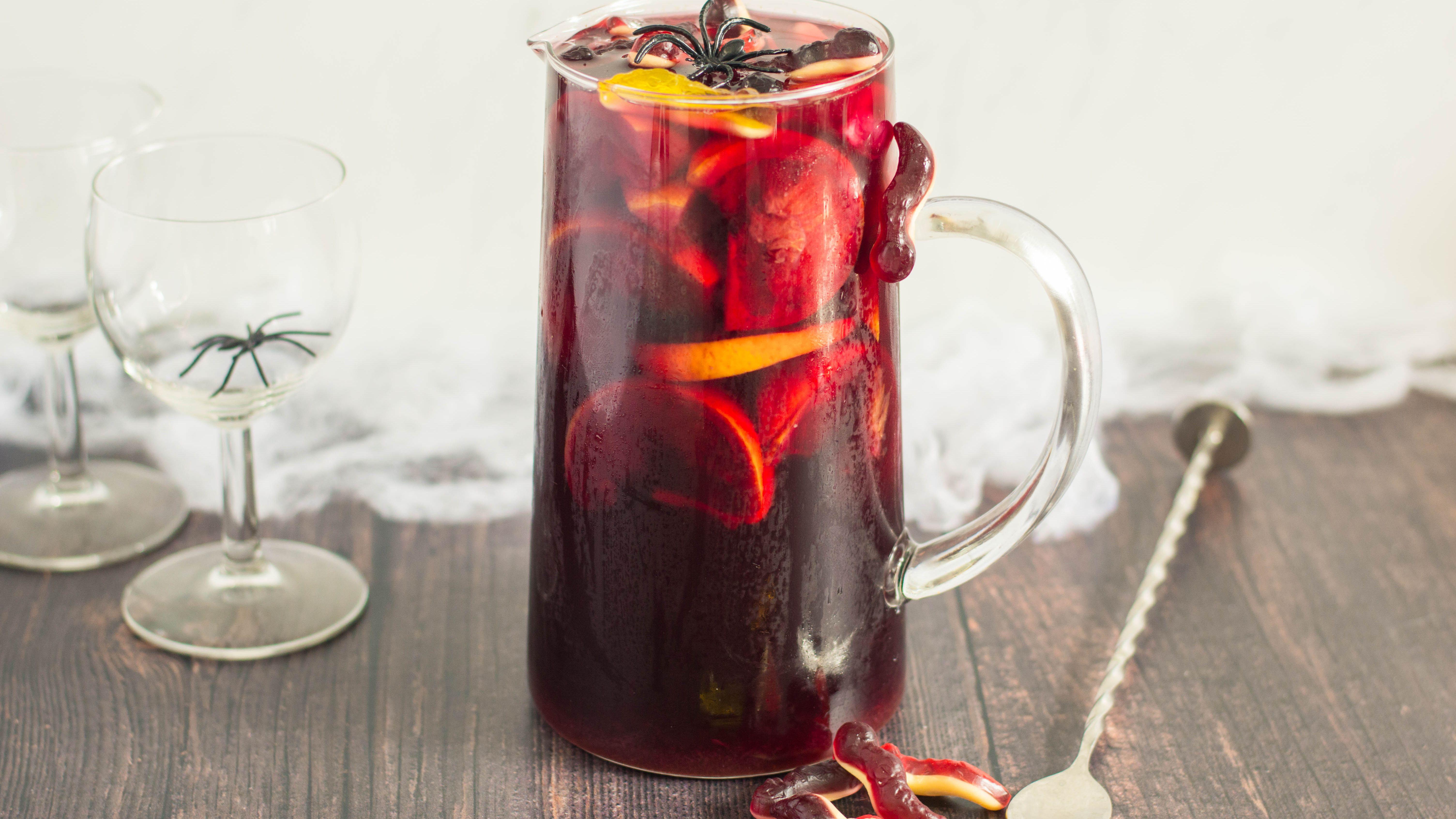 Blood Red Halloween Sangria Recipe