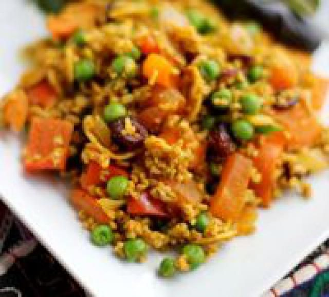 Curried Sweet potato and Freekeh Salad