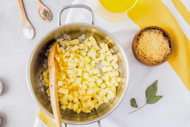 Add chopped potatoes