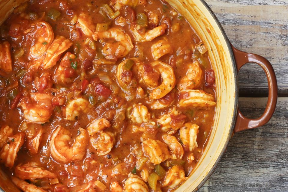 shrimp etouffee, creole style