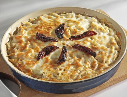 Turkish 'fırın makarna' is oven-baked pasta with lots of cheese topped with Bechamel sauce