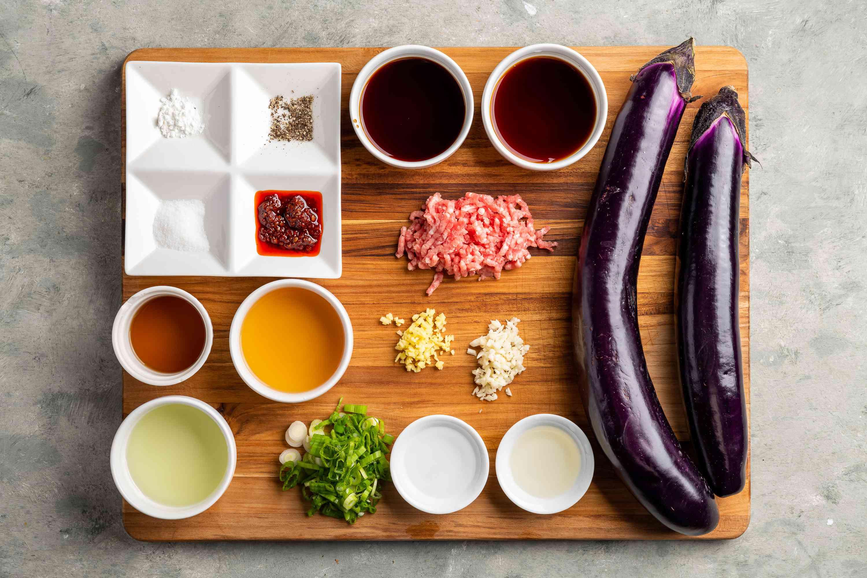 Sichuan Eggplant in Garlic Sauce ingredients