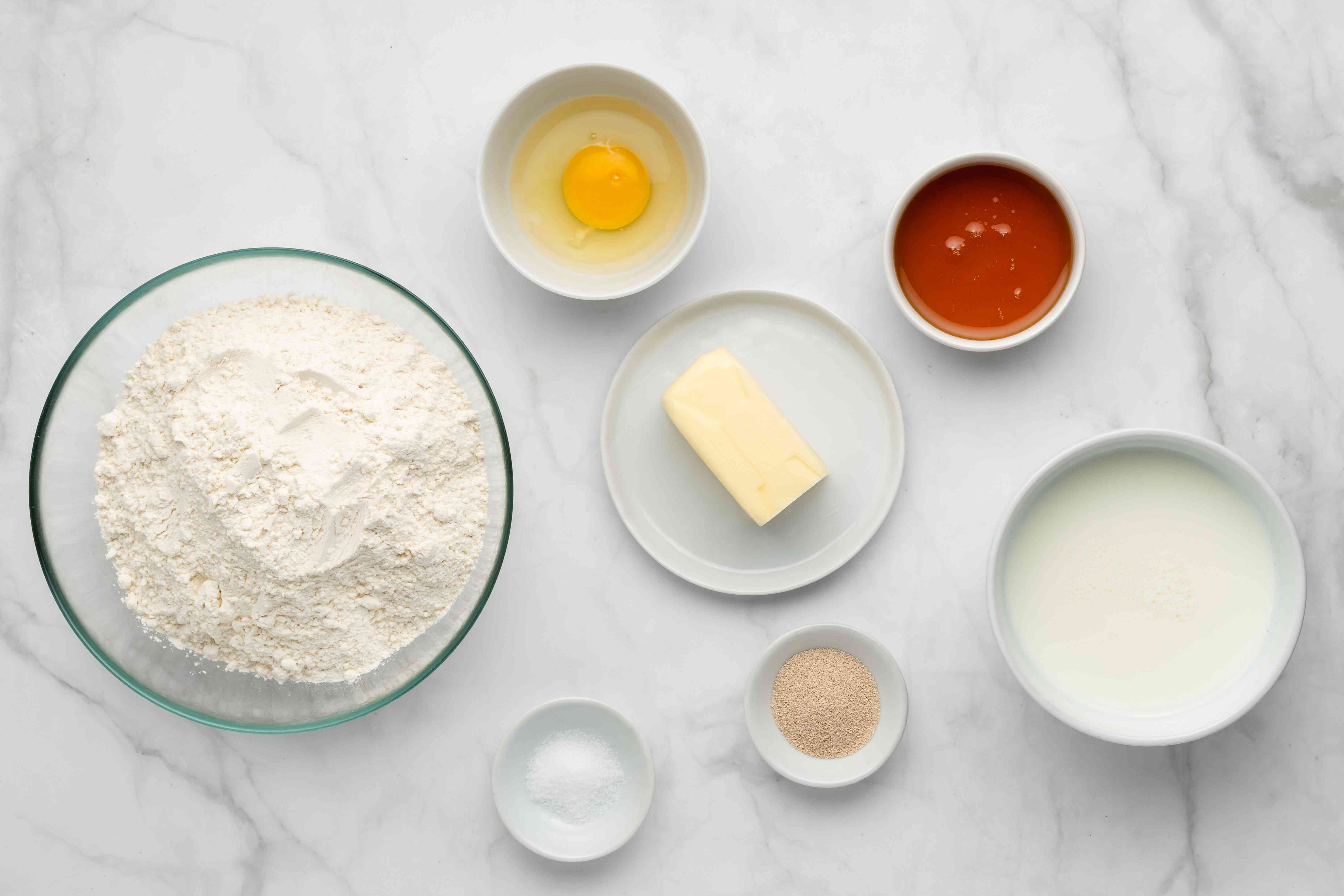 Cake dough ingredients for bee sting cake
