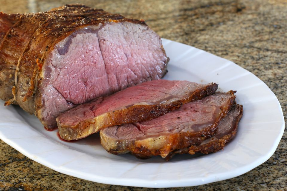 roast beef with pepper crust