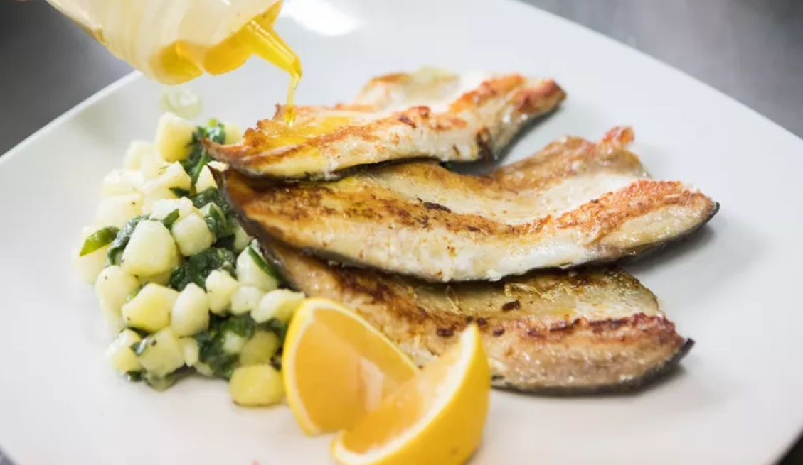 Rainbow Trout With Lemon Parsley Brown Butter Sauce