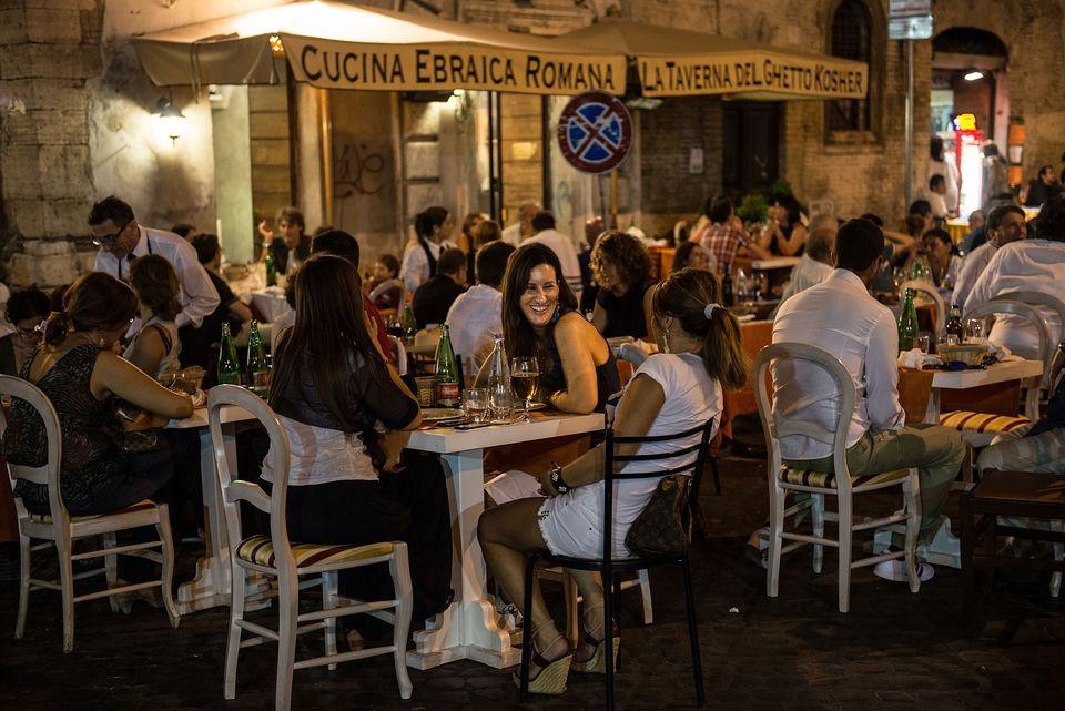 La Taverna del Ghetto, a kosher eatery in Rome