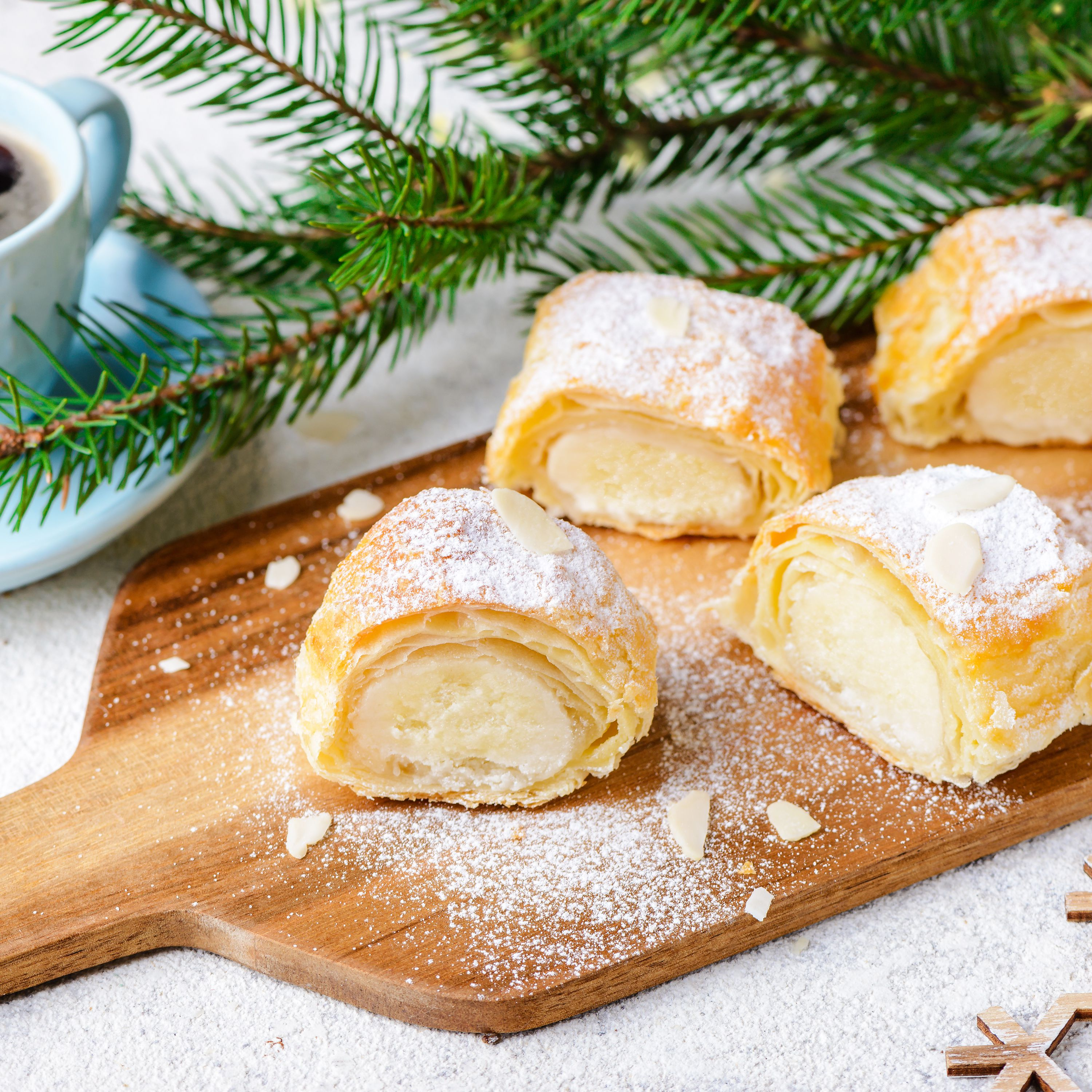 Dutch Christmas Food.Dutch Almond Paste Filled Pastry Log Banketstaaf