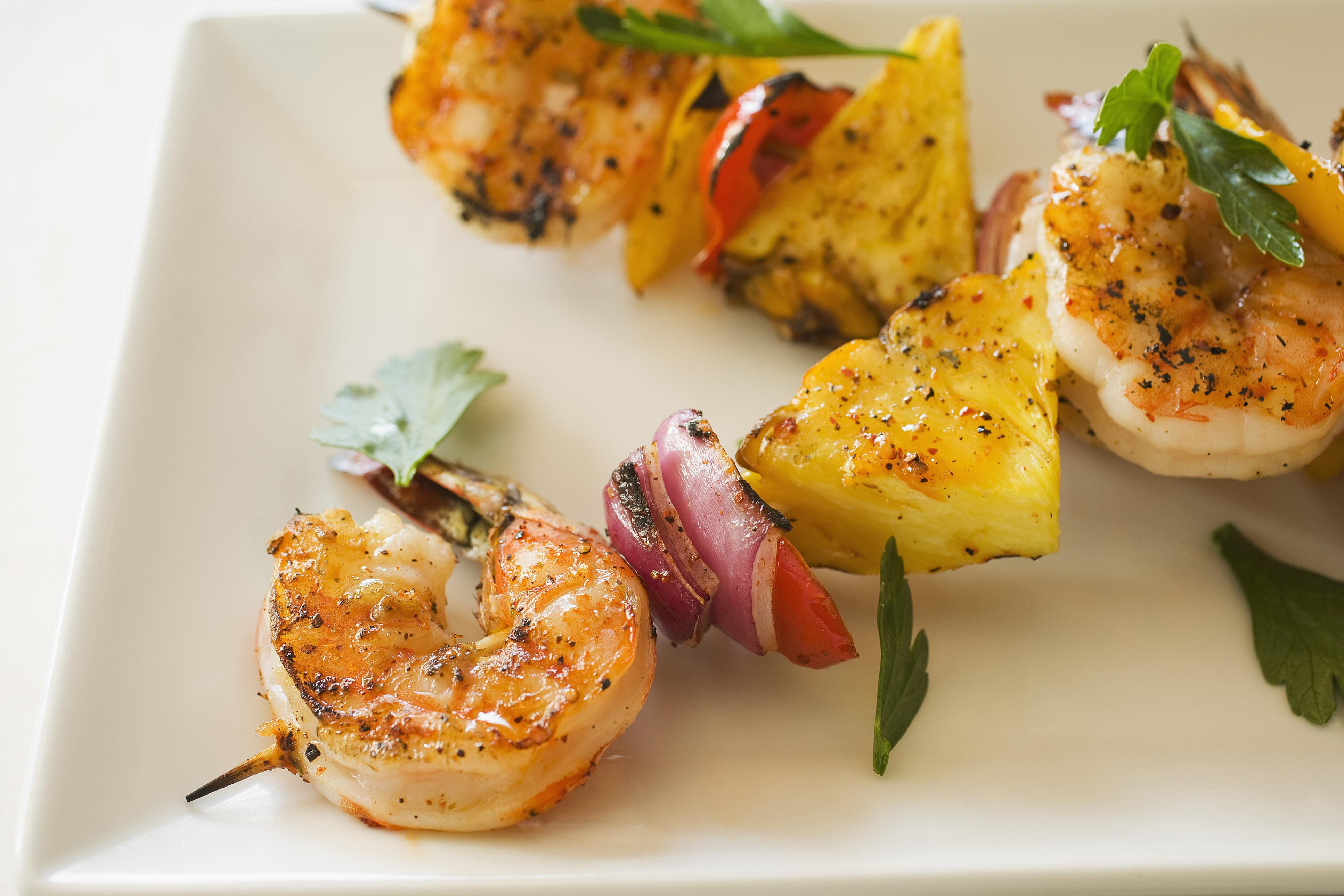 Pineapple-Chili Shrimp Kebabs