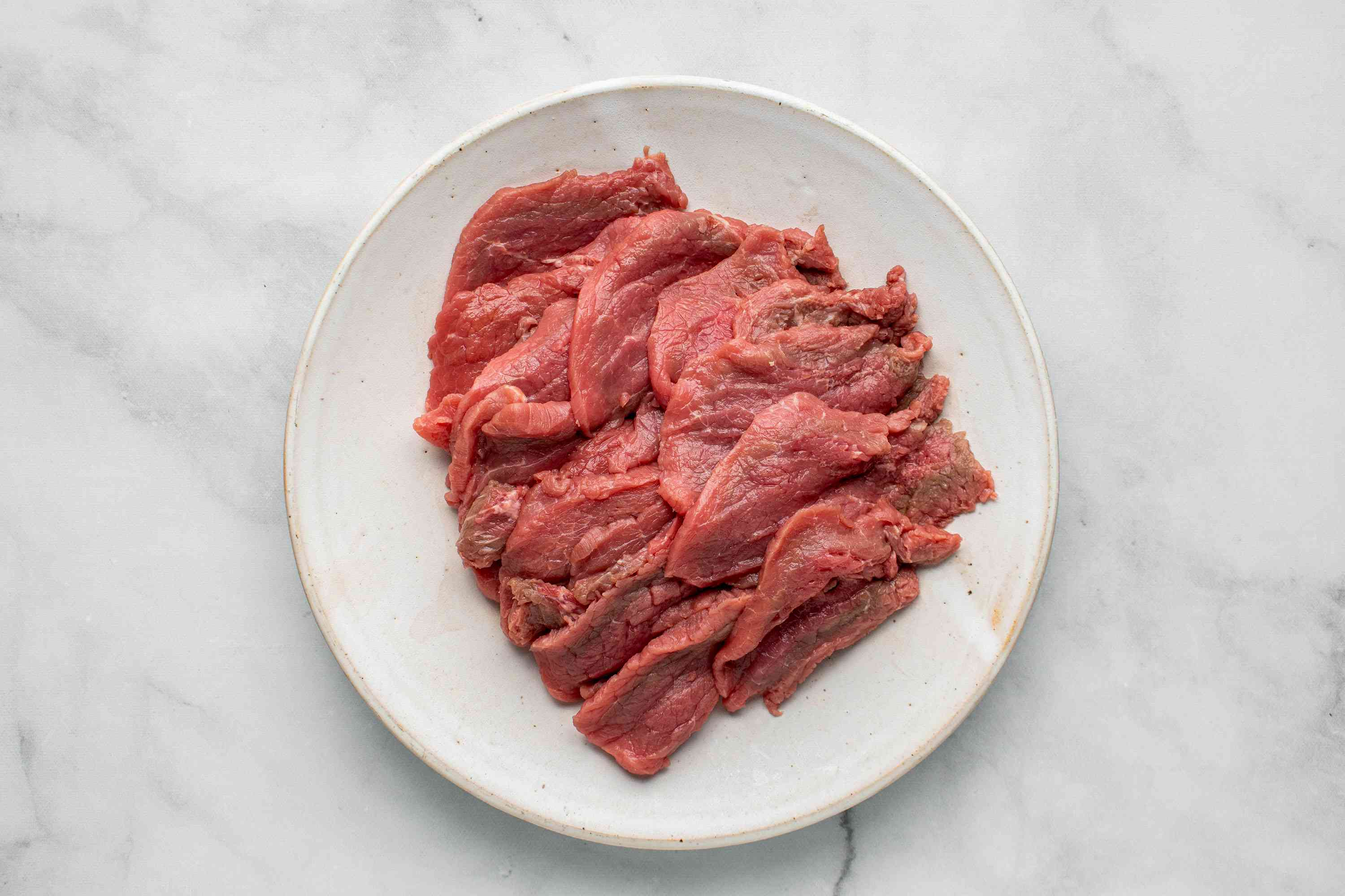 slice beef thinly