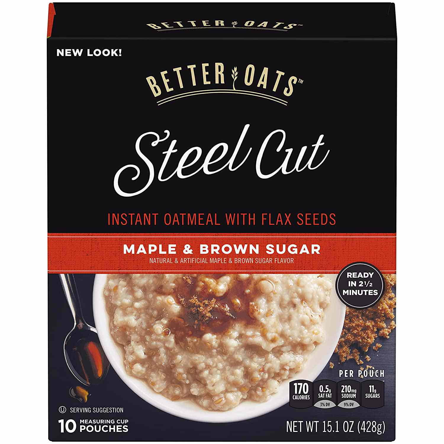 Better Oats Instant Steel Cut Oatmeal with Flaxseeds