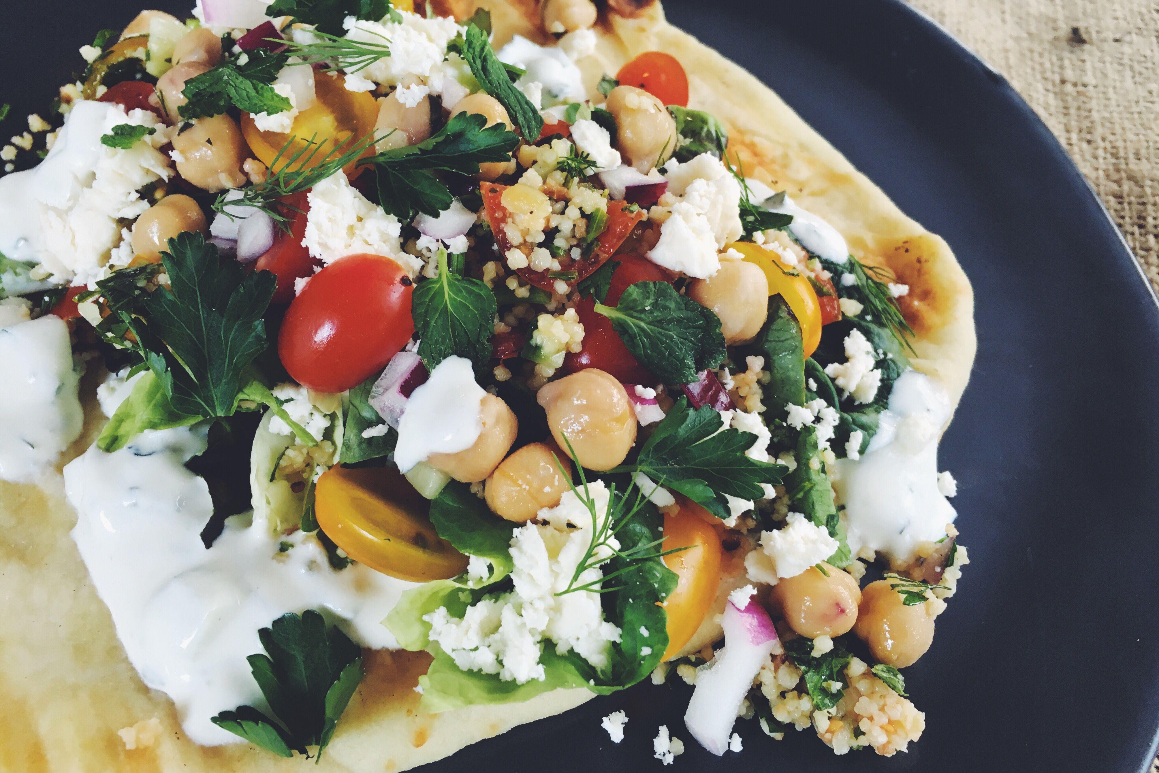 Middle Eastern Vegetable Pita Sandwich
