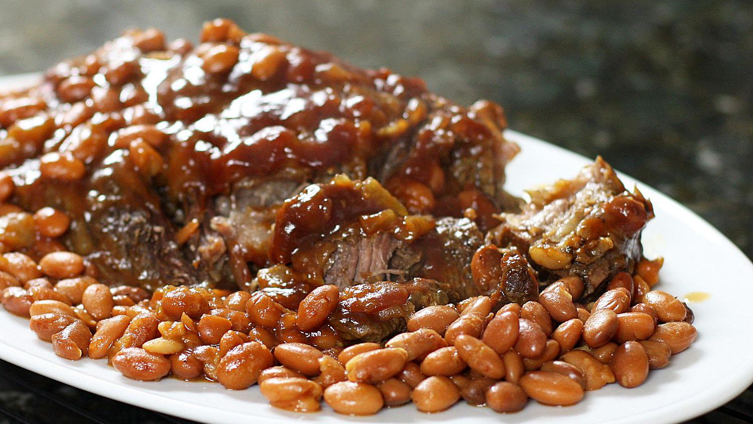 Slow Cooker Pot Roast With Pinto Beans Recipe