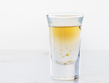 Pirate's Treasure Shot Drink with Captain Morgan and Goldschlager