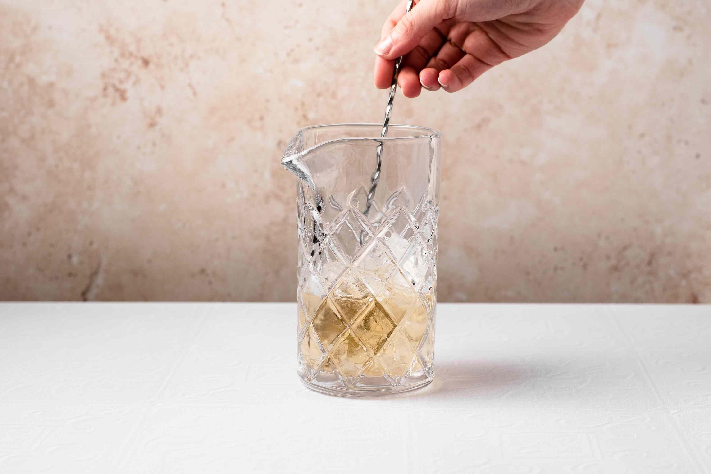 stir cocktail in a pitcher
